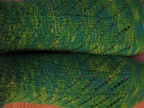 Diagonal Lace Socks